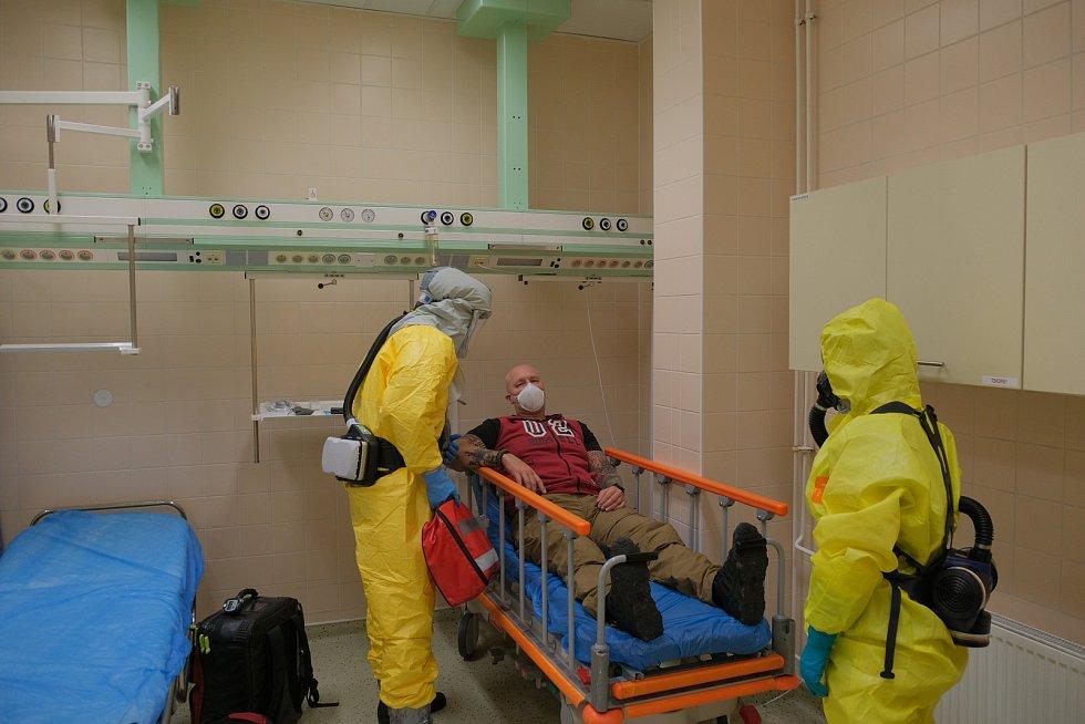 Cvičení v krnovské nemocnici.