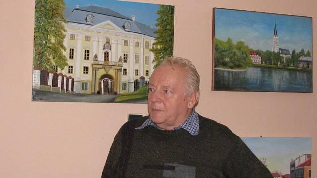 Malíř Jan Foldyna ze Starých Heřminov čerpá inspiraci na cestách v zahraničí a také ve svém okolí.