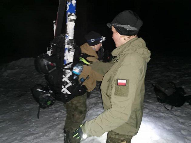 Winter Survival 2020.Na snímku polské závodnice.