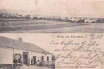 FOTOPOHLEDNICE ÚVALNA z roku 1908 nabídla celkový pohled na obec a koloniál Käller.  Zajímavé srovnání, jak tato lokalita vypadá v současné době.