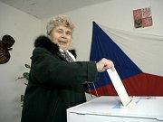 Někteří voliči v Mýtě dorazili i s těmi nejmenšími, kteří ještě hlasovat nemohli. Že by výchova budoucích voličů?