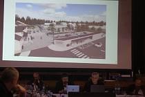 Krnovské zastupitelstvo schválilo rozpočet v klubu Kofola. Starosta Tomáš Hradil v úvodu představil  vizualizaci, jak by se podle odbornků mělo revitalizovat  okolí klubu Kofola v budoucích letech.