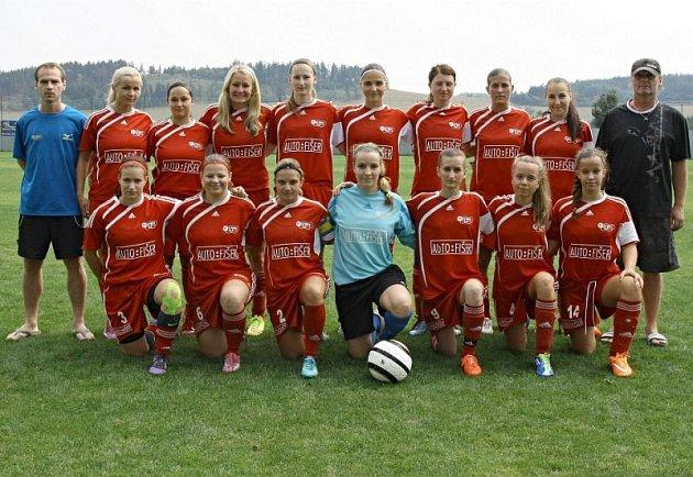 Fotbalistky FC Slavoj Olympia Bruntál.