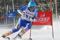 Sjezdovka Andělka byla dějištěm mistrovství Moravy a Slezska ve sjezdovém lyžování Masters. Na snímku domácí Jiří Drlík.
