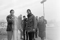 Filmový štáb v čele s režisérem Adamem Martincem a kameramanem Davidem Hofmannem natáčel v Krnově studentské ročníkové cvičení.