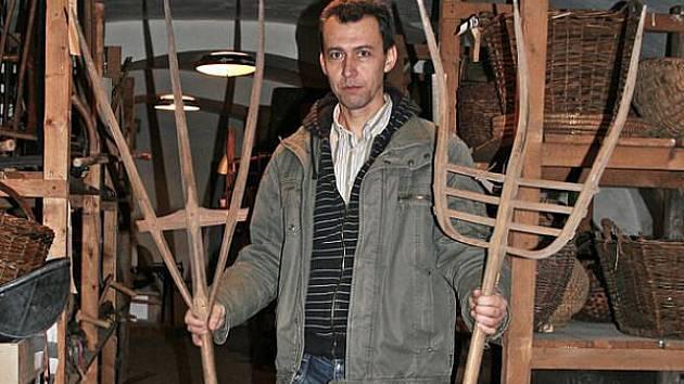Jan Gemela, zakladatel lichnovského Muzea vidlí