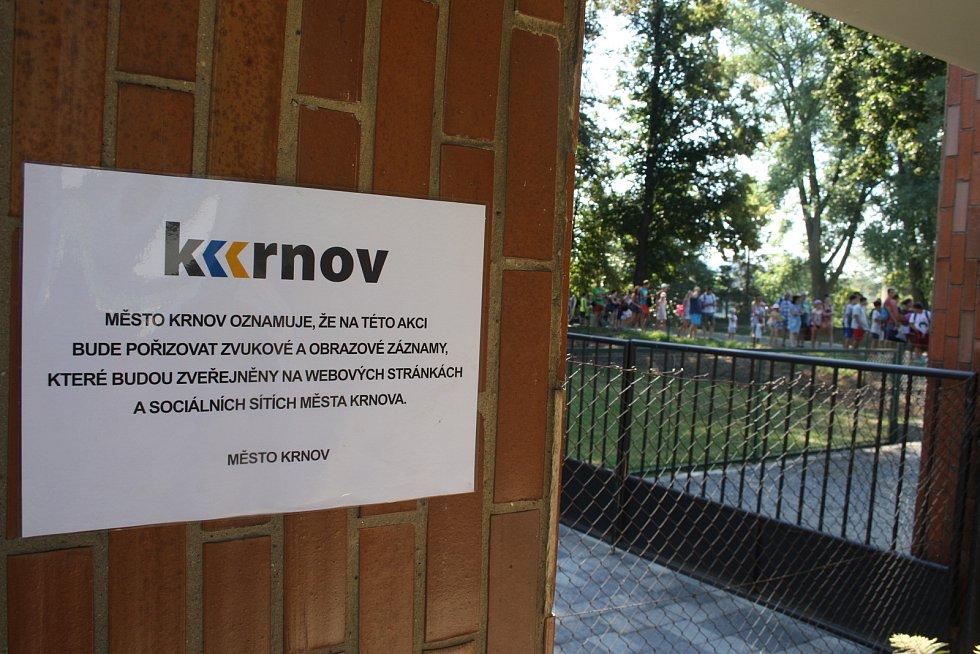 Krnovské koupaliště, srpen 2018.