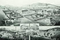 Továrna na lněné a bavlněné nitě v Markvarticích.