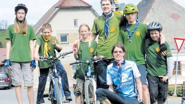 Krnovská trojka na cyklistické výpravě.