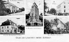 Na dobové pohlednici ze dvacátých let 20. století je vlevo dole zachyceno sídlo statkáře Heinricha Horneho – zámeček u hranice.
