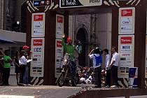 JAN VESELÝ po příjezdu do cíle Rallye Dakar v peruánské Limě.