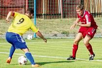 Rýmařov si vyšlápl na béčko Opavy a připsal si všechny body. Na snímku vlevo Jiří Furik.