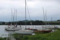 Jachtařská regata na Slezské Hartě.