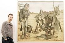 Vidlák Jan Gemela v předních světových galeriích hledá souvislosti mezi vidlemi a uměním. Tento obraz tureckého malíře Neşet Günala před pár dny objevil v Muzeu moderního umění v Istanbulu.