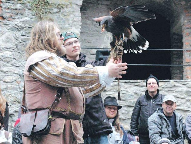 Ukázka sokolnického výcviku bude o víkendu jednou z atraktivních podívaných na hradě Sovinci.