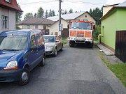 Problémy s průjezdností v Rýmařově.