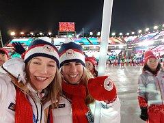 VERONIKA ZVAŘIČOVÁ se na olympiádě v Koreji zvěčnila s celou řadou vynikajících sportovců.