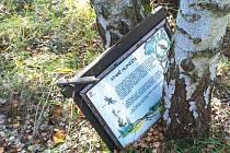 Vandalové měli opravdu co dělat. Podle slov ekologa Martina Bodešínského byly cedule pevně přivrtány několika šrouby.