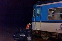 V sobotu v 18.55 hodin se střetl rychlík jedoucí z Ostravy do Krnova s osobním automobilem.