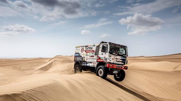Druhá etapa letošního Dakaru byla pro Martina Kolomého a jeho posádku náročná.