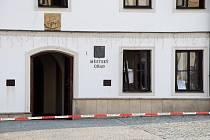 Zásah u výbuchu v budově radnice v Rýmařově.