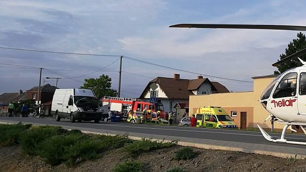 Zásah záchranářů u nehody v Úvalně.