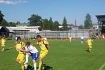 V nedělním utkání českomoravského poháru nestačila oslabená Jiskra Rýmařov na zkušený tým Hlučína.