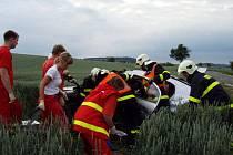 Dopravní nehoda u obce Úvalno.