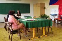 Průběh státní maturity na Střední pedagogické škole a Střední zdravotnické škole v Krnově.