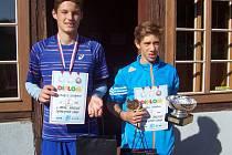 Zleva: druhý Michael Kulhánek a vítěz turnaje Ondřej Horák z SK LAMA.