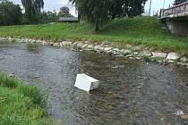 """""""Ozdobou"""" řeky Opavy je v současnosti stará lednice."""