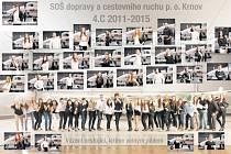 Tablo studentů s letadly vzniklo na Mošnovském letišti. Je v optice u Slezského domova.