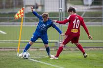 Fotbalové urkání MSFL mezi FC Velké Meziříčí a SK Jiskra Rýmařov.
