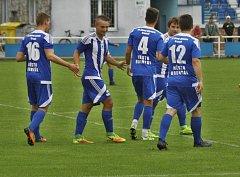 Bruntálští fotbalisté se proti Staré Bělé ze vstřeleného gólu radovali celkem čtyřikrát.