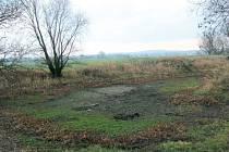 Nebeský rybník se říká nádržím bez přítoku, které jsou napájeny jen deštěm z nebes nebo spodní vodou. Jeden takový býval také u Slezských Rudoltic. V létě se vypařil, ale ani podzimní deště a zimní sněžení ho nedokázaly obnovit.