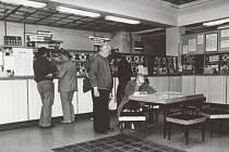 Bruntálská pošta před rokem 1989.