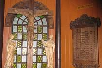 Památník v Ludvíkově. Pohled na exteriér a vnitřní vybavení památníku