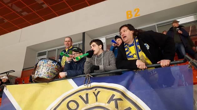 Jeden z velkých fanoušků hokejistů Krnova zvaný Džeky.