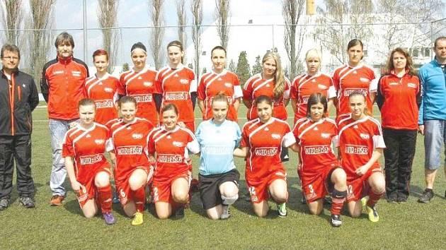 Fotbalistky Olympie Bruntál. Ilustrační foto.