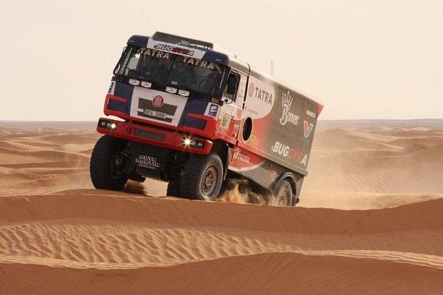Poslední zkouškou na Rallye Dakar byla listopadová tuniská pouštní ElChott rally, vníž skončil Kolomý třetí přesto, že ze závodu odstoupil.