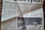 Výstřižky z novin.