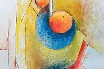 Jedna z kompozic ostravského malíře Jaroslava Vilíma, jehož tvorbu můžete obdivovat od 12. července v karlovické Art galerii Pension U Řeky.