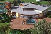 Zrekonstruovaný bazén nabídne návštěvníkům mimo řadu vodních atrakcí také možnost koupání a slunění se venku.