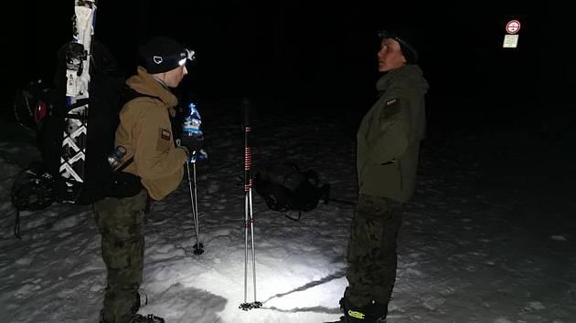 Winter Survival 2020. Na snímku polské závodnice.