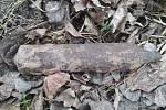 Letecká puma nalezená v Osoblaze.