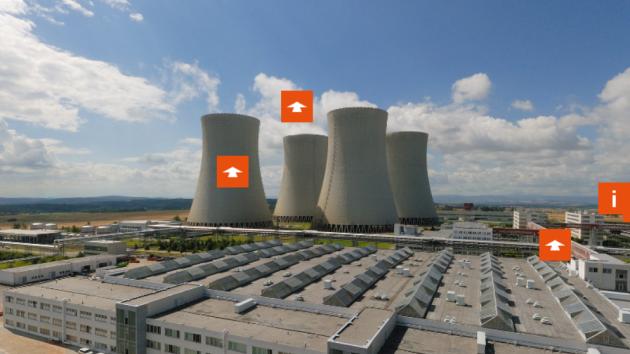 Virtuální prohlídka jaderné elektrárny