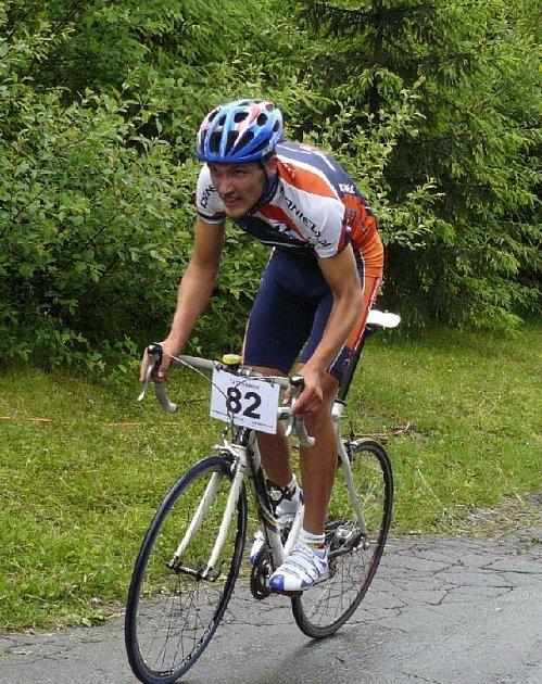 Vítěz závodu Tour de Javorový Grzegorz Szczechla.