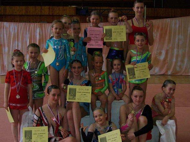 Gymnastky získaly celkem patnáct medailí.