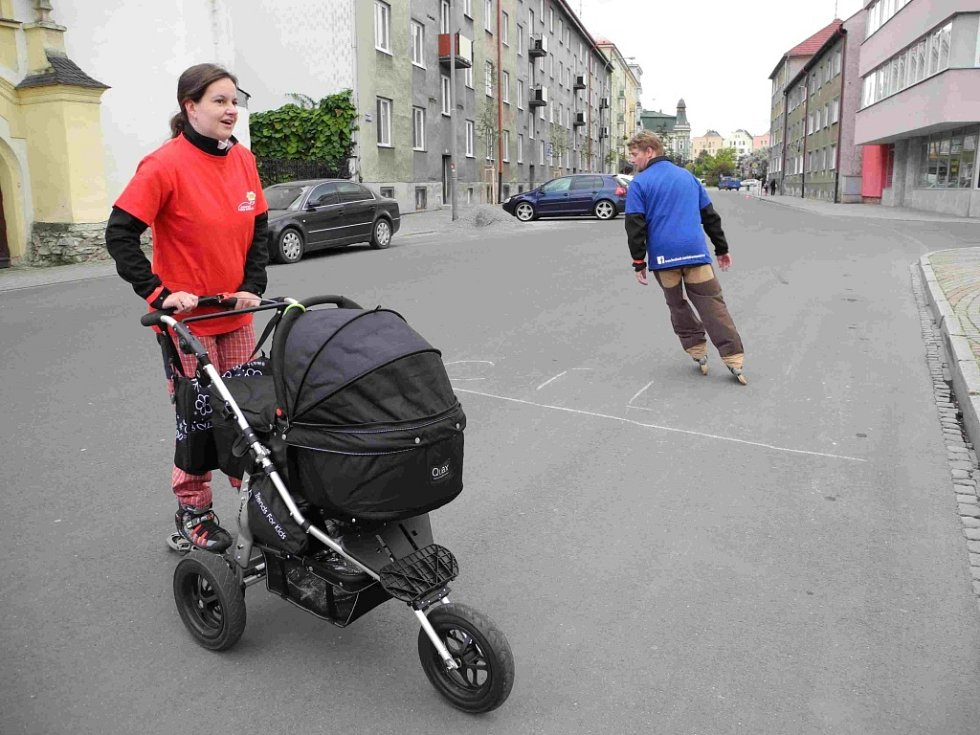Krnovští cyklisté, bruslaři a chodci si v sobotu 28. září užili jako Den bez aut.