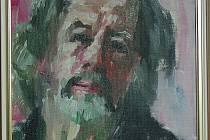 Autoportrét Karla Adámka ze soukromé sbírky mohou diváci vidět na výstavě v bruntálském zámku.